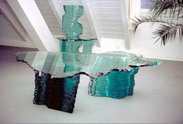 Honegger kunst danny lane for Salontisch glas